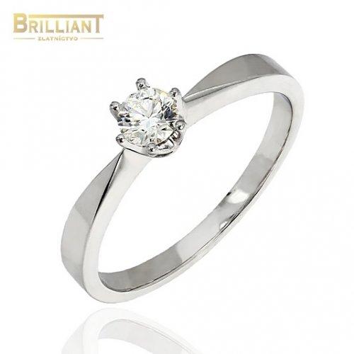 Briliantový zlatý Prsteň Au585/000 s diamantom 0,24ct.