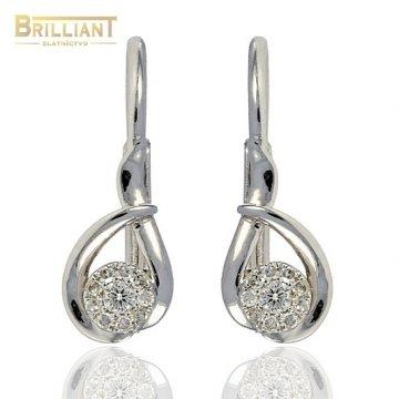 Diamantové Náušnice Au585/000 s 20 diamantmi 0,10ct.
