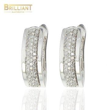 Diamantové Zlaté náušnice Au585/000 14k 96ks diam. 0,25ct.