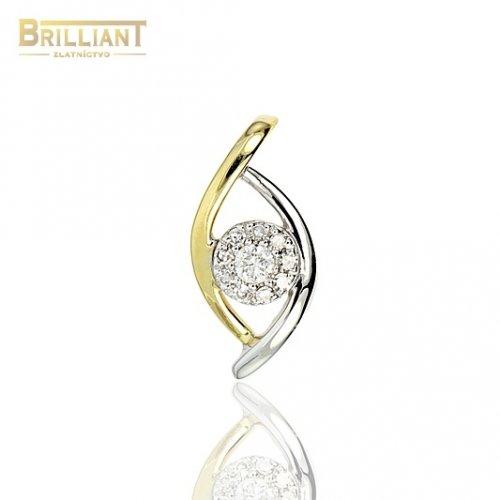 Diamantový Zlatý prívesok Au585/000 14k 10ks diamant. 0,07ct