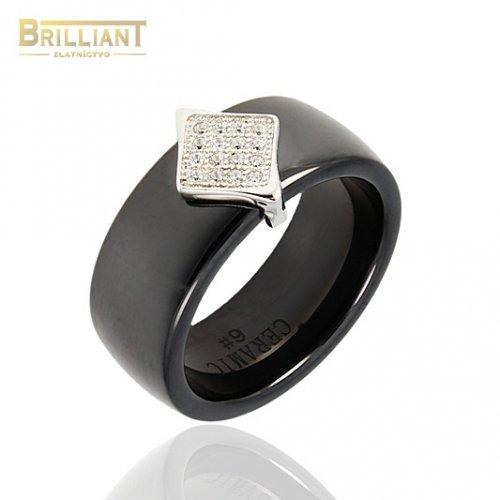 Keramický prsteň s Ag925 a kameňmi
