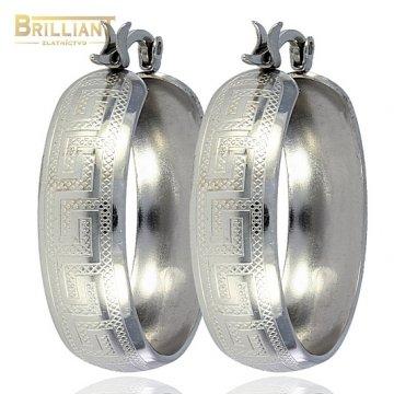 Náušnice kruhy so vzorom CHirurgicka ocel