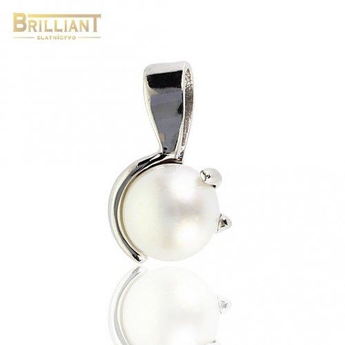 Prívesok Biele Zlato Au585/000 s perlou