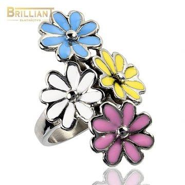 Prsteň s kvetmi CHirurgicka ocel