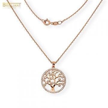 Strieborná retiazka Ag925 ružová Tree of life