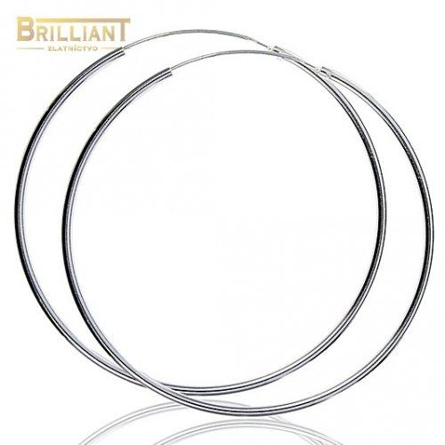 Strieborné Náušnice Ag925 kruhy 6,0cm - 8,0cm