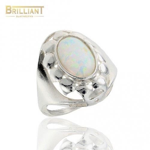 Strieborný prsteň Ag925 s opálom
