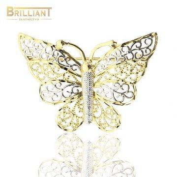 Zlatá Brošňa Au585/000 Motýlik