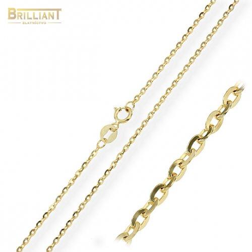 Zlatá retiazka Au585/000 14k klasická vysoko leštená