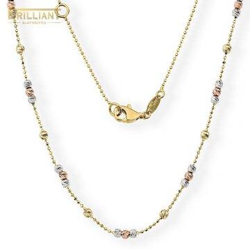 Zlatá retiazka Au585/000 14k s guličkami