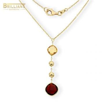 Zlatá retiazka Au585/000 14k s kameňmi