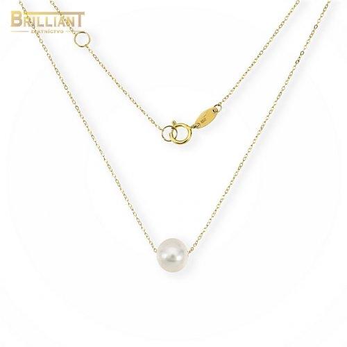 Zlatá retiazka Au585/000 14k s perlou
