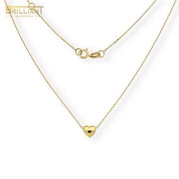 Zlatá retiazka Au585/000 14k so srdiečkom