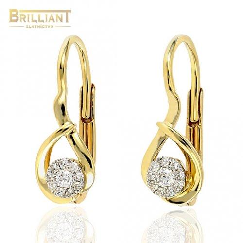 d8335ff00 Zlaté Briliantové náušnice Au585/000 14k 20ks diam. 0,09ct ...