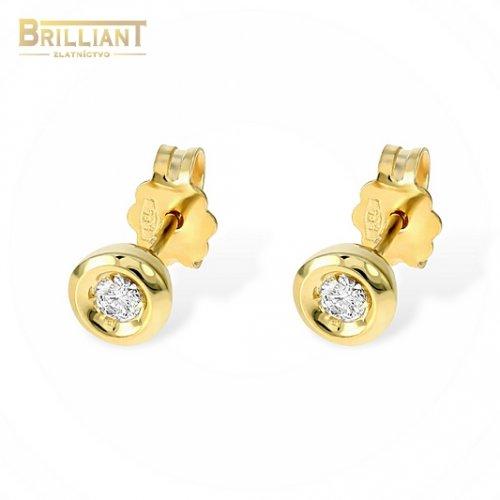 Zlaté Briliantové náušnice Au585/000 14k 2ks 0,10ct.