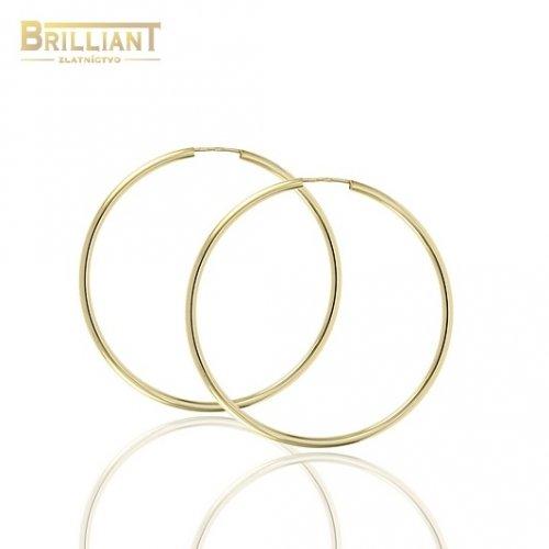 Zlaté náušnice Au585/000 14k kruhy 4,0cm