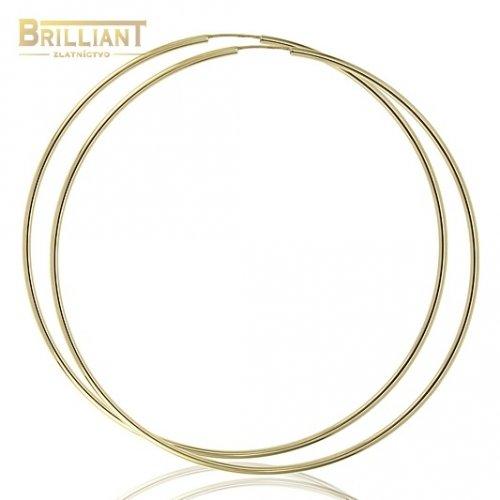 Zlaté náušnice Au585/000 14k kruhy 6,0cm - 7,0cm