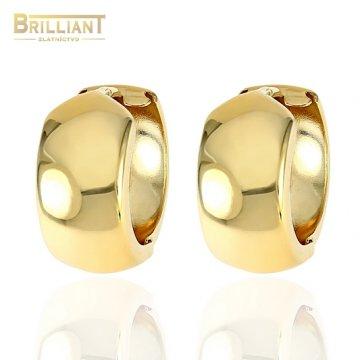 Zlaté náušnice Au585/000 14k otváracie krúžky