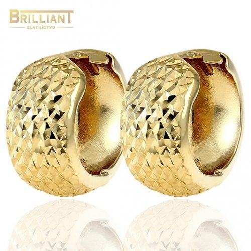 b28c6803d Zlaté náušnice Au585/000 14k otváracie krúžky s gravírom ...