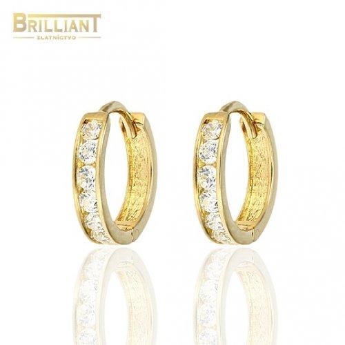 d998d4e62 Zlaté náušnice Au585/000 14k otváracie krúžky s kameňmi ...