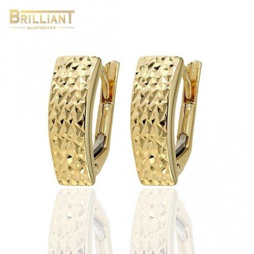 Zlaté náušnice Au585/000 14k patentové s gravírom