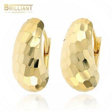 Zlaté náušnice Au585/000 14k s garvírovaním
