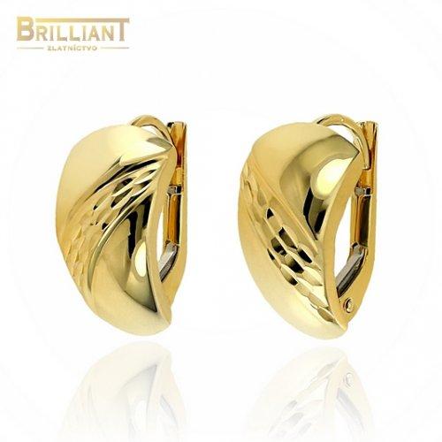 Zlaté náušnice Au585/000 14k s gravírovaním