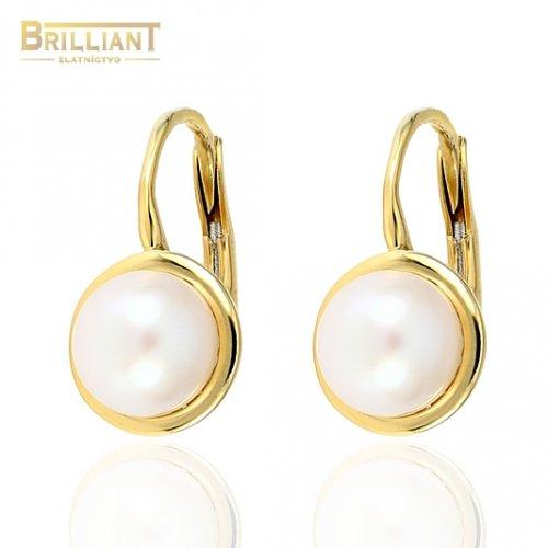 Zlaté náušnice Au585/000 14k s perlou