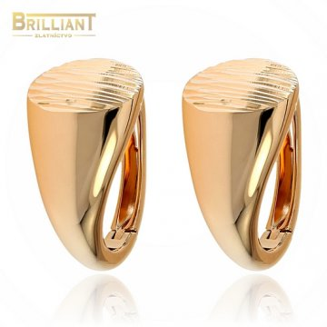 Zlaté náušnice Au585/000 14k VENEROSO ružové zlato