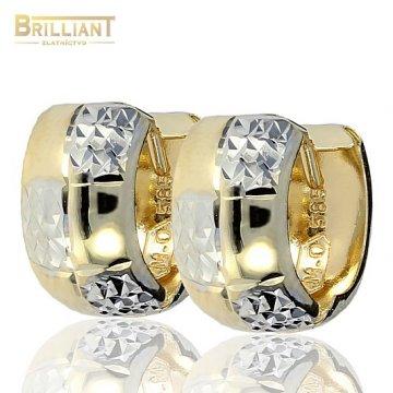 Zlaté Náušnice Au585/000 krúžky 1,3cm