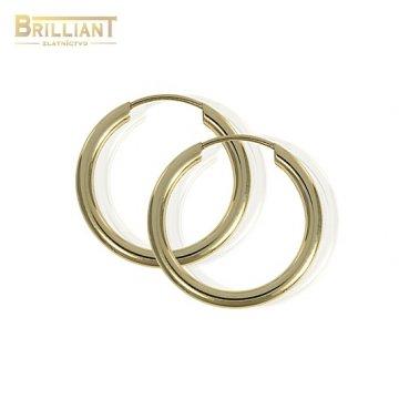 Zlaté Náušnice Au585/000 Krúžky klasické