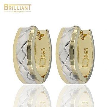 Zlaté Náušnice Au585/000 otváracie krúžky