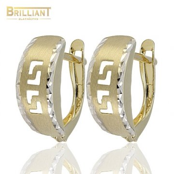 Zlaté Náušnice Au585/000 s gravírom