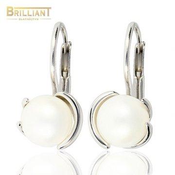 Zlaté Náušnice Au585/000 s perlou