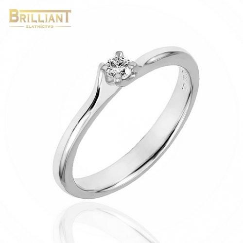 Zlatý Briliantový prsteň Au585/000 14k s 0,08ct Diamantom