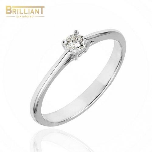 Zlatý Briliantový prsteň Au585/000 14k s 0,10ct.Diamantom
