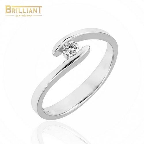Zlatý Briliantový prsteň Au585/000 14k s 0,14ct. Diamantom