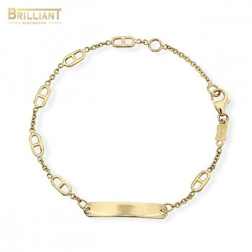 Zlatý Detský náramok Au585 000 14k s platničkou  e67bdf0cc6d