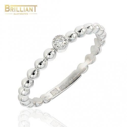 Zlatý Diamantový prsteň Au585/000 14k diamant 1ks 0,02ct.