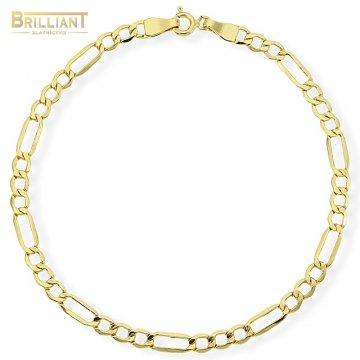 Zlatý náramok Au585/000 14k Figaro