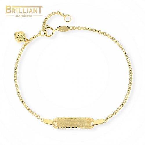 Zlatý náramok Au585/000 14k s platničkou