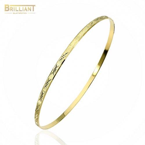 Zlatý pevný náramok Au585/000 14k gravírovaný