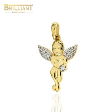 Zlatý prívesok Au585/000 14k anjelik