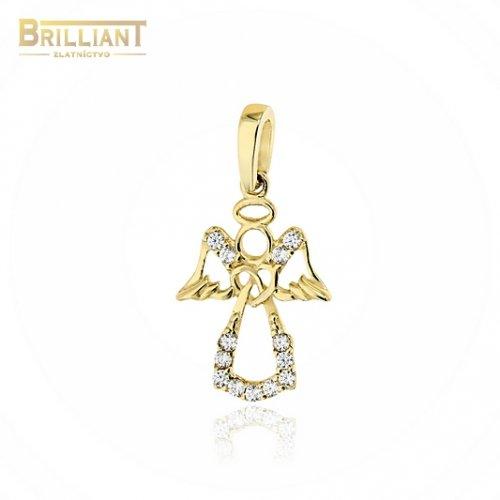 Zlatý prívesok Au585/000 14k anjelik s kamienkami