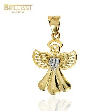 Zlatý prívesok Au585/000 14k anjelik so srdiečkom