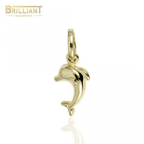 Zlatý prívesok Au585/000 14k Delfínik