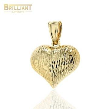 Zlatý prívesok Au585/000 14k gravírované srdiečko