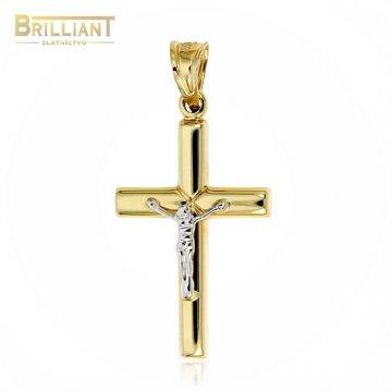 Zlatý prívesok Au585/000 14k kombinovaný krížk