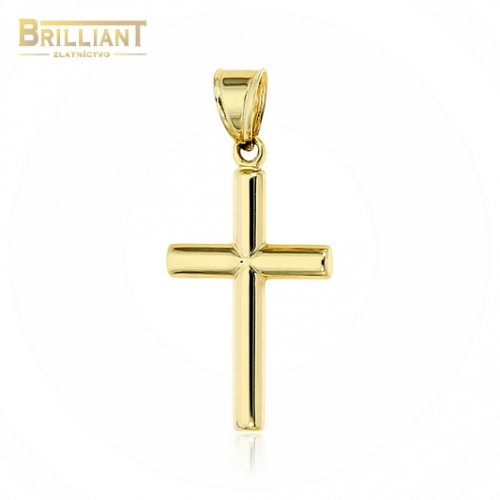 Zlatý prívesok Au585/000 14k krížik