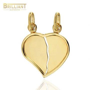 Zlatý prívesok Au585/000 14k lámacie srdiečko